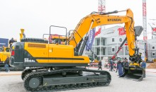 Hyundai's latest crawler excavators at bauma 2019