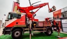 Palfinger unveils its first electric access platform P 370 KS E at bauma 2019
