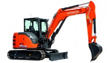 Hitachi's ZX65USB-6 mini excavator works harder with less fuel