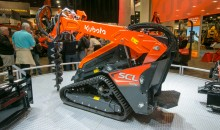 Kubota's SCL 1000 stand-on tracked loader is powerful without the need for a diesel particulate filter